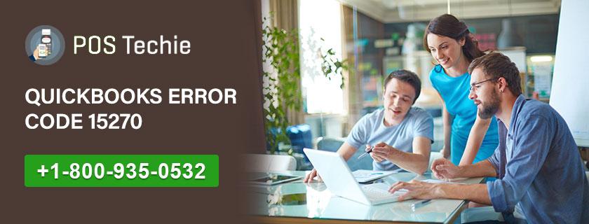QuickBooks Error Code 15270