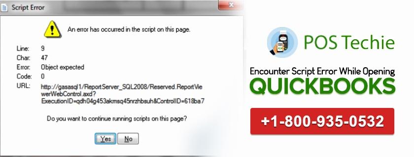 Script Error While Opening QuickBooks