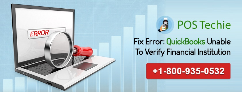 QuickBooks Unable To Verify Financial Institution